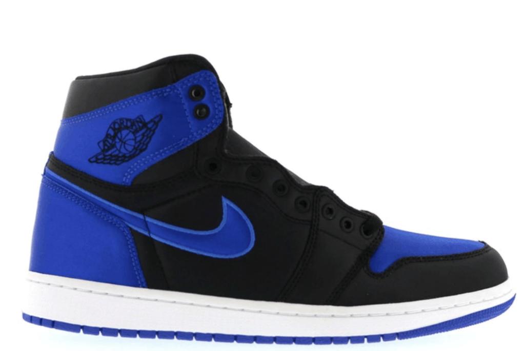 Jordan Retro blue and black sneakers