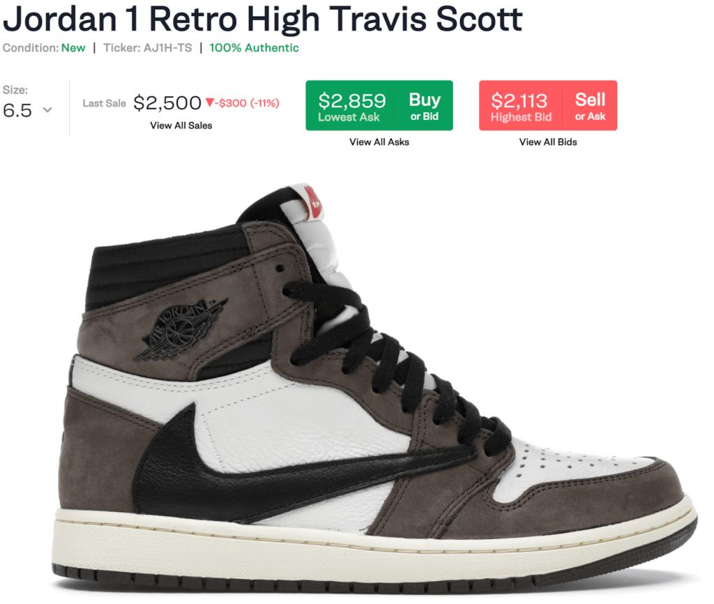 Jordan 1 Retro High Travis Scott sneakers